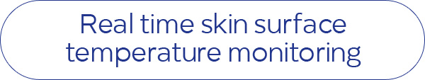 Real time skin surface temperature monitoring